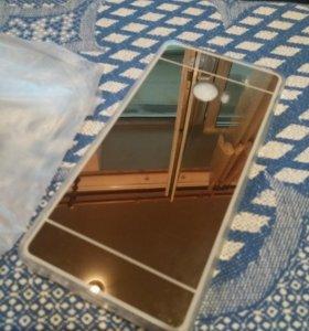 Зеркальный чехол на xiaomi note2 новый