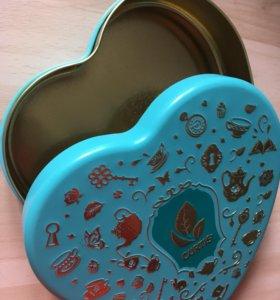 Баночка шкатулка подарочная упаковка алюминий