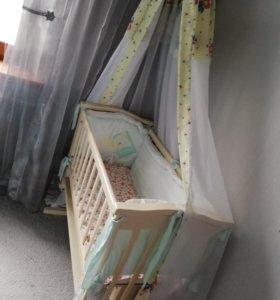 Продам детскую кроватку-люльку