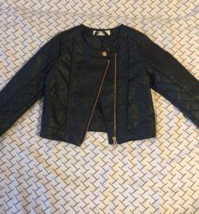 Коженка новая куртка HM 4-5 лет 104-110 косуха