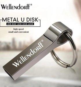 Новая флешка металл USB 32 ГБ