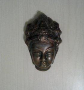 СРОЧНОПродаётся индийская маска из бронзы на стену