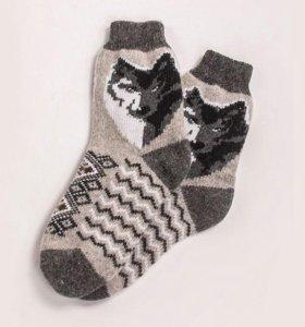 Новые мужские носки из овечьей шерсти
