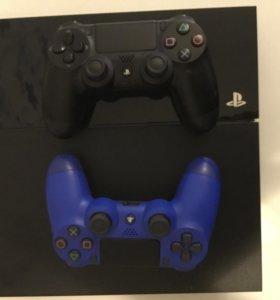 Продам PS4 500g с 2 джойстиками + 3 игры