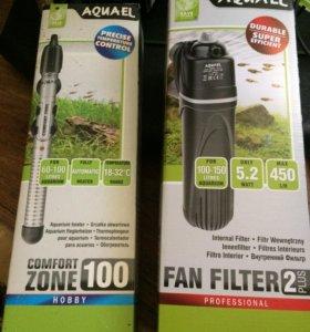 фильтр и нагреватель для аквариума