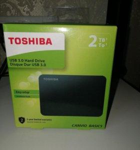 Внешний Toshiba 2Tb usb 3.0 новый