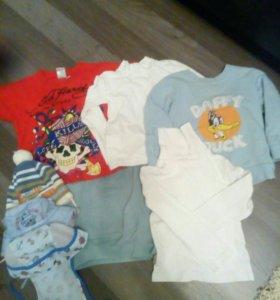 Вещи пакетом для мальчика. Р86-92