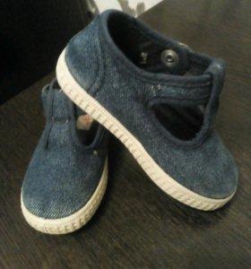 Джинсовые ботиночки,стелька 13см