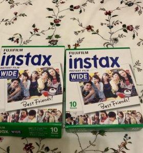 Катриджы Fujifilm Instax Wide