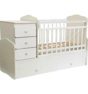 Детская кроватка-6000 матрац Аскона 2000