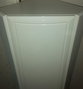 Новый угловой ящик с полками белый. Высота 90 см