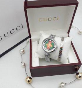 Стильные Часики Cucci женские с браслетом