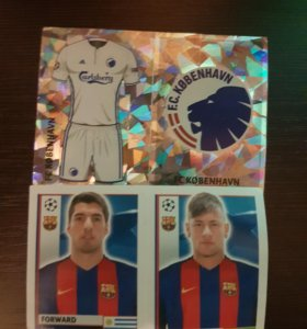 Карточки Лиги Чемпионов УЕФА - на клейкой основе