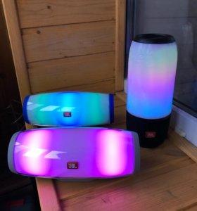 Колонка светящаяся JBL Pulse 3 и Pulse 5