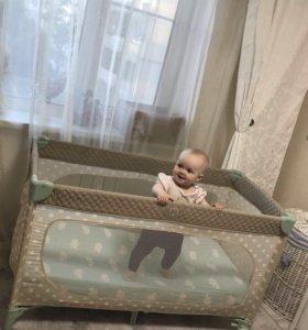 Манеж-кровать happy baby