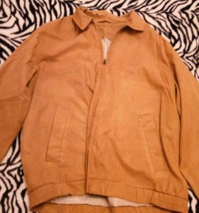 Куртка коричневая под замшу