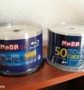 Диски Blu ray DVD 8.5-25-50 Gb