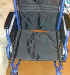 Новая инвал.коляска широкая+противопролеж.подушка