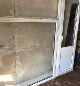 Оконный блок кве, с дверью