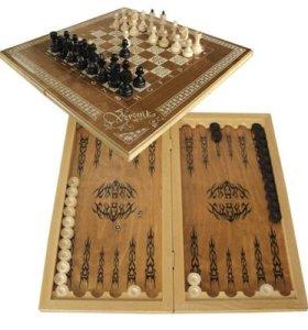 Набор 3в1 нарды шашки шахматы НОВЫЕ