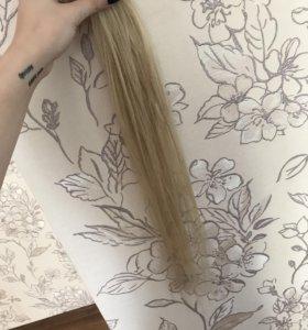 Волосы для наращивания 60 см блонд тон#60