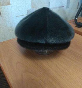 Мужская шапка, мех нерпы