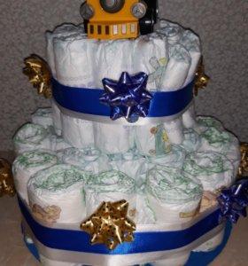 Тортик из памперсов на заказ