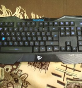Игровая мембранная клавиатура с синей подстветкой