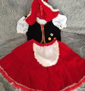 Новогодний костюм Красной шапочки 6-8 лет