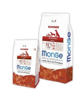 Корм Monge Dog Speciality для собак ягненок\рис