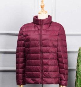 Куртка пуховая ультра-легкий 100% пух. Тонкая.