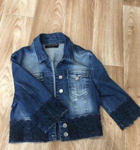 Джинсовый пиджак (укорочённый)