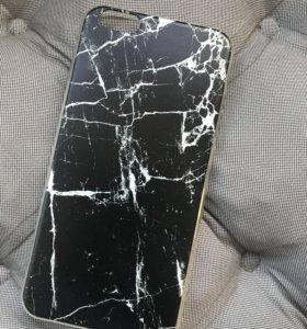Чехол мрамор iPhone 6 Plus новый