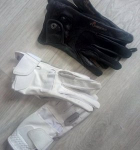 Конные перчатки из кожи