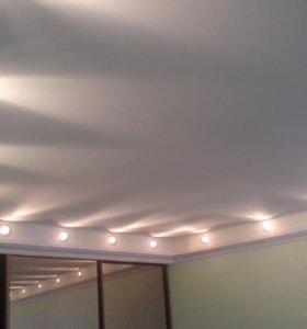 Натяжные матовые потолки