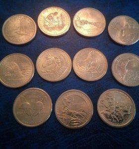 США 1 доллар 2000-2018 Индианка Сакагавея набор