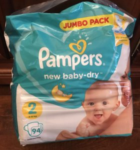 Pampers размер 2