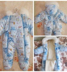 Теплая одежда для малышки