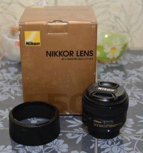 Объектив портретный Nikon 50mm 1,8G