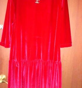 Платье велюр, см профиль