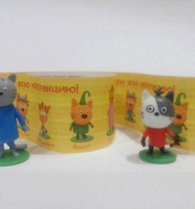 Три кота Чупа- чупс  киндер сюрприз
