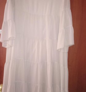 Платье шифон с поясочком