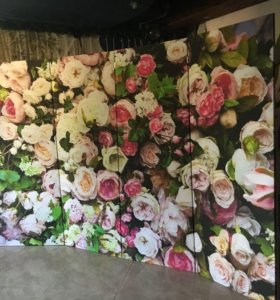 Ширма с цветами 2х3
