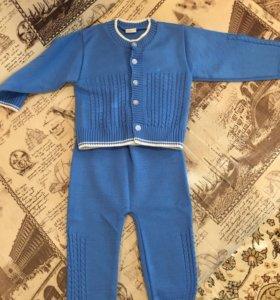 Тёплый вязаный костюмчик 74 размер