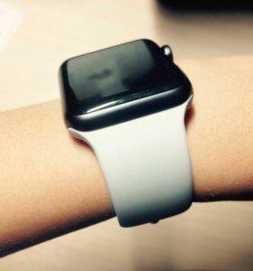 Белый спортивный ремешок для Apple Watch 42 mm 🎁