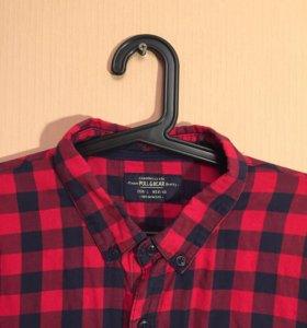 Хлопковая рубашка Pull and Bear