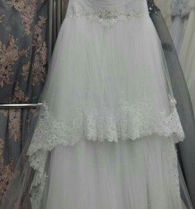 Свадебное платье новое с баской
