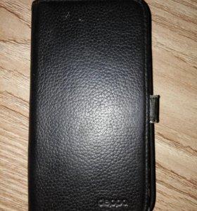 Кожаный чехол на Samsung S4