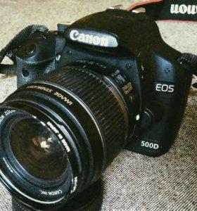 Canon 500d+18-55mm+фотосумка