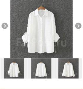 Блуза белая. Размеры 52-54-56